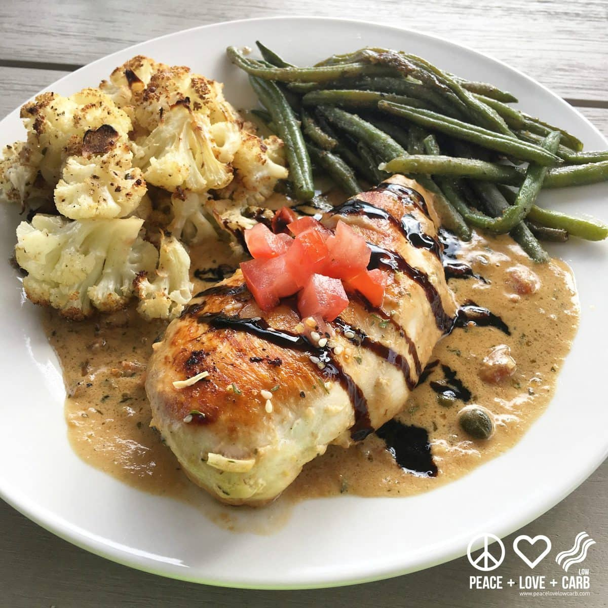 Chicken with Creamy Lemon Caper Pan Sauce | Peace Love and Low Carb