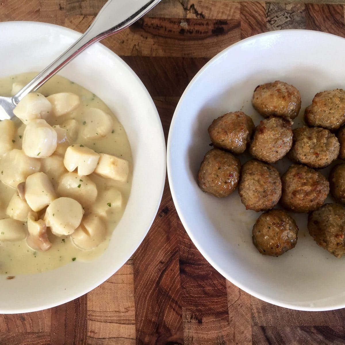 Creamy Scallops and Meatballs | Peace Love and Low Carb
