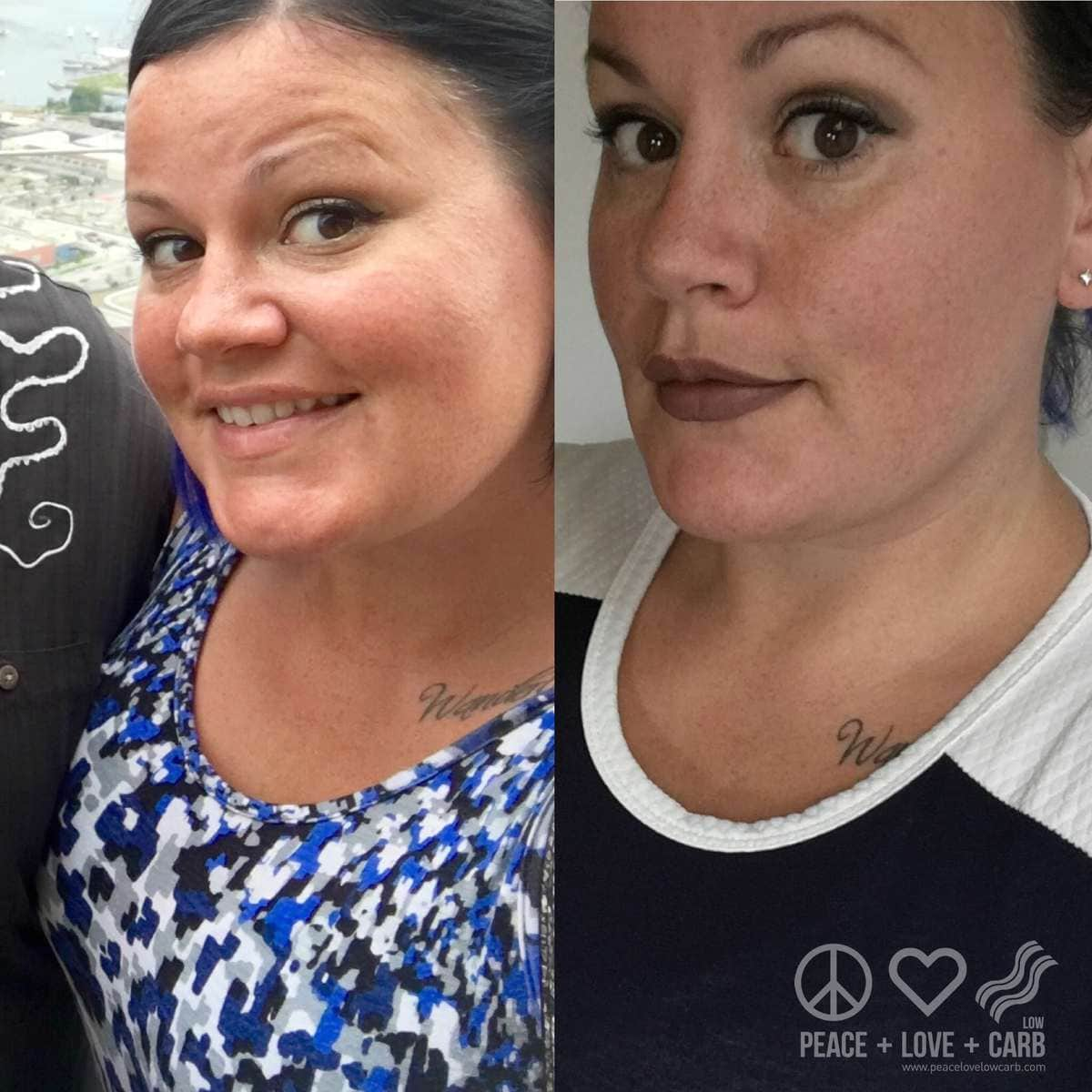 One Week Difference Before and After | Peace Love and Low Carb
