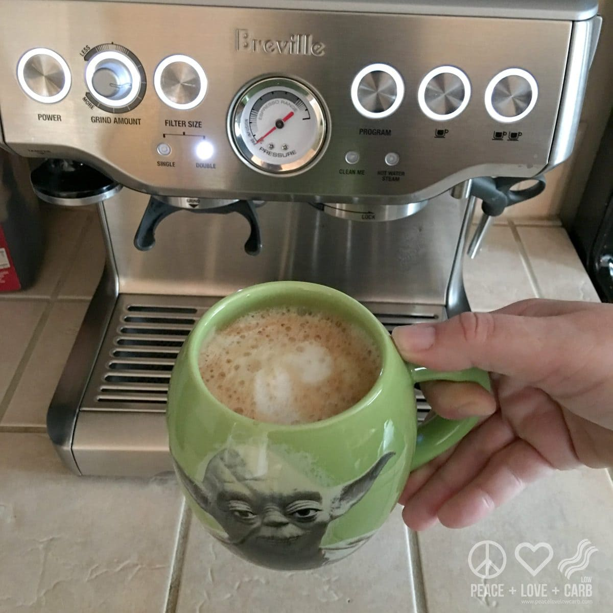 Almond Milk Latte - Low Carb, Gluten Free | Peace Love and Low Carb