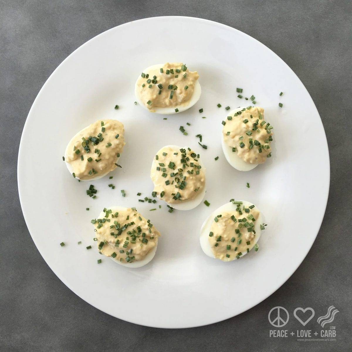 Caesar Salad Deviled Eggs | Peace Love and Low Carb