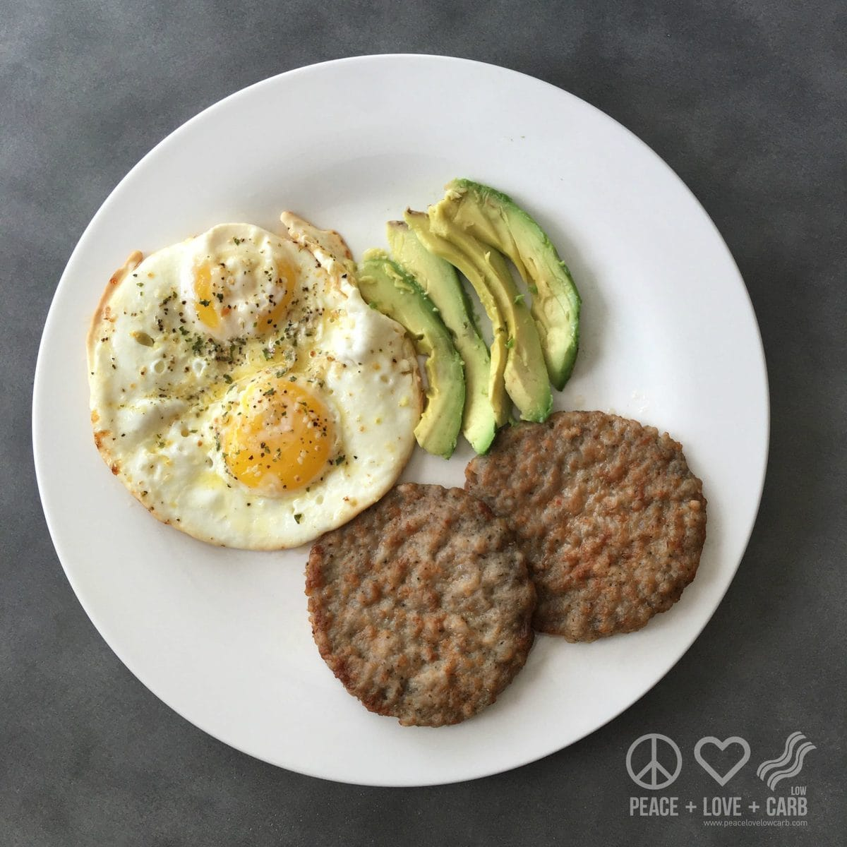 Sausage, Eggs, Avocado - Low Carb, High Fat | Peace Love and Low Carb
