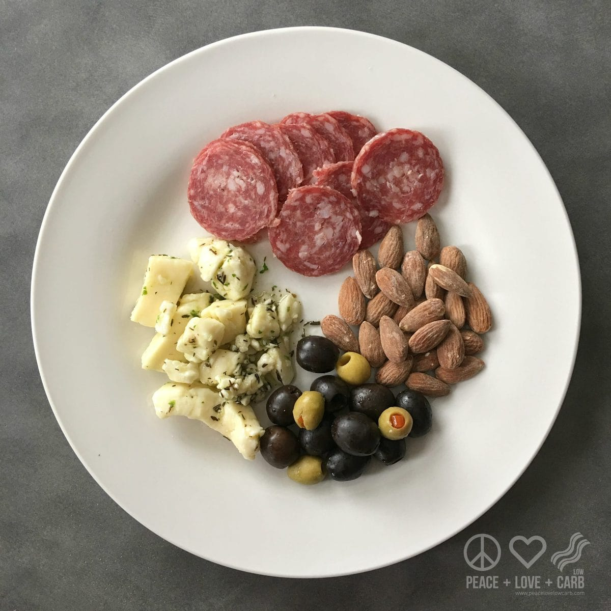 Antipasto Snack Lunch - Low Carb, Gluten Free | Peace Love and Low Carb