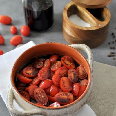 Balsamic Marinated Tomatoes – Low Carb, Paleo, Whole30