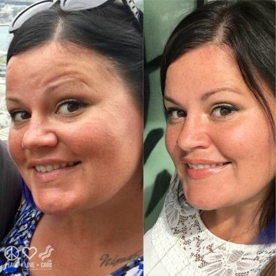 Before and During Weight Loss | Peace Love and Low Carb