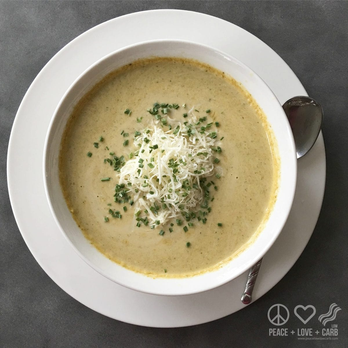 Cheesy Broccoli Soup - Low Carb, Gluten Free | Peace Love and Low Carb