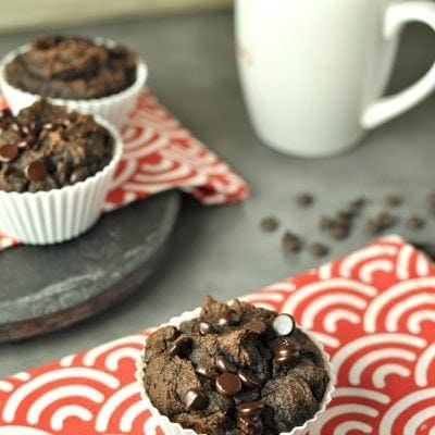 Double Chocolate Chip Pumpkin Spice Muffins – Low Carb, Gluten Free
