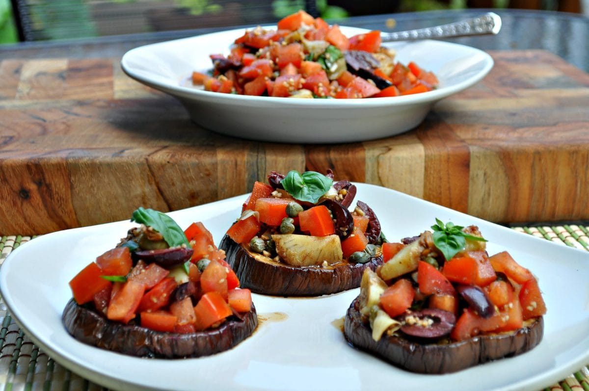Eggplant Bruschetta - Low Carb, Paleo, Whole30