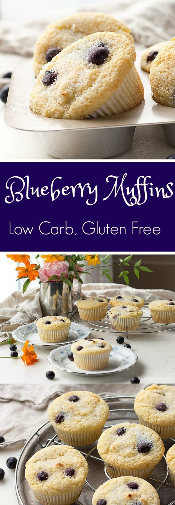 Blueberry Muffins - Low Carb, Gluten Free | Peace Love and Low Carb