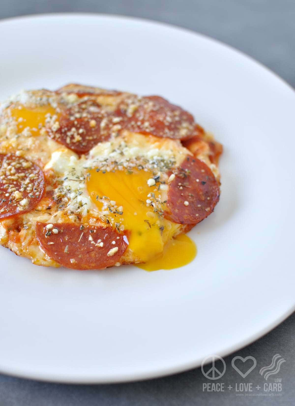 Pizza Eggs - Low Carb, Keto, Gluten Free | Peace Love and Low Carb