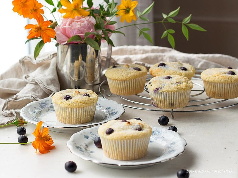 Low Carb Blueberry Muffins | Peace Love and Low Carb