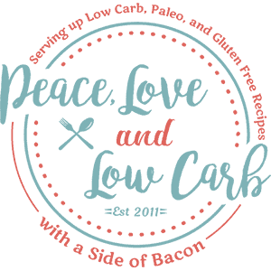 Peace Love and Low Carb logo