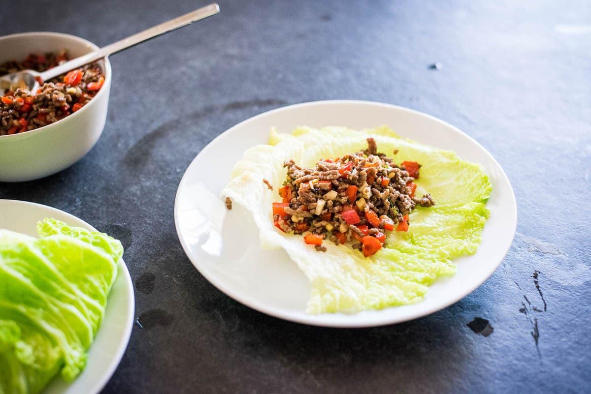 Keto Taco Tuesday Recipes - Cumin Spiced Beef Wraps - Low Carb, Paleo