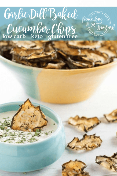 Garlic Dill Baked Cucumber Chips - All of the crunch, without all the carbs.
