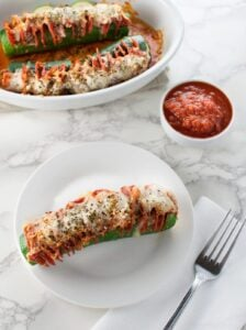 Hasselback Zucchini Pepperoni Pizza - Low Carb, Gluten Free