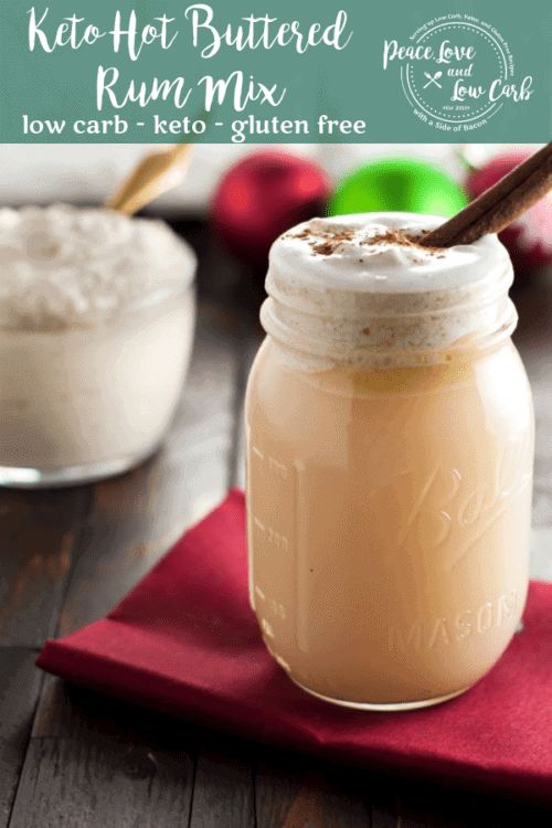 Warm and delicious, this low carb, keto hot buttered rum mix is sure to impress. Just like the real thing but without all the carbs and sugar.