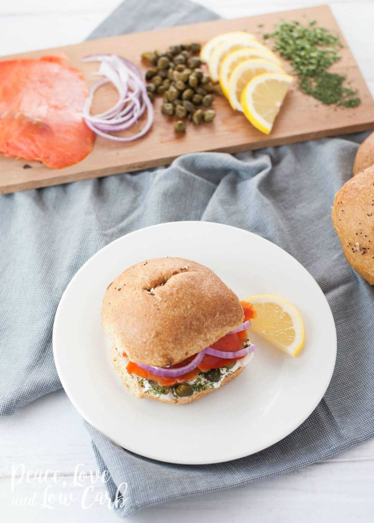 Low Carb Everything Bagel with Smoked Salmon and Cream Cheese | Peace Love and Low Carb