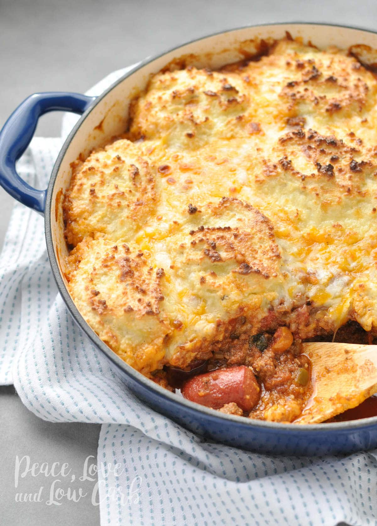Keto Chili Dog Pot Pie Casserole Peace Love And Low Carb