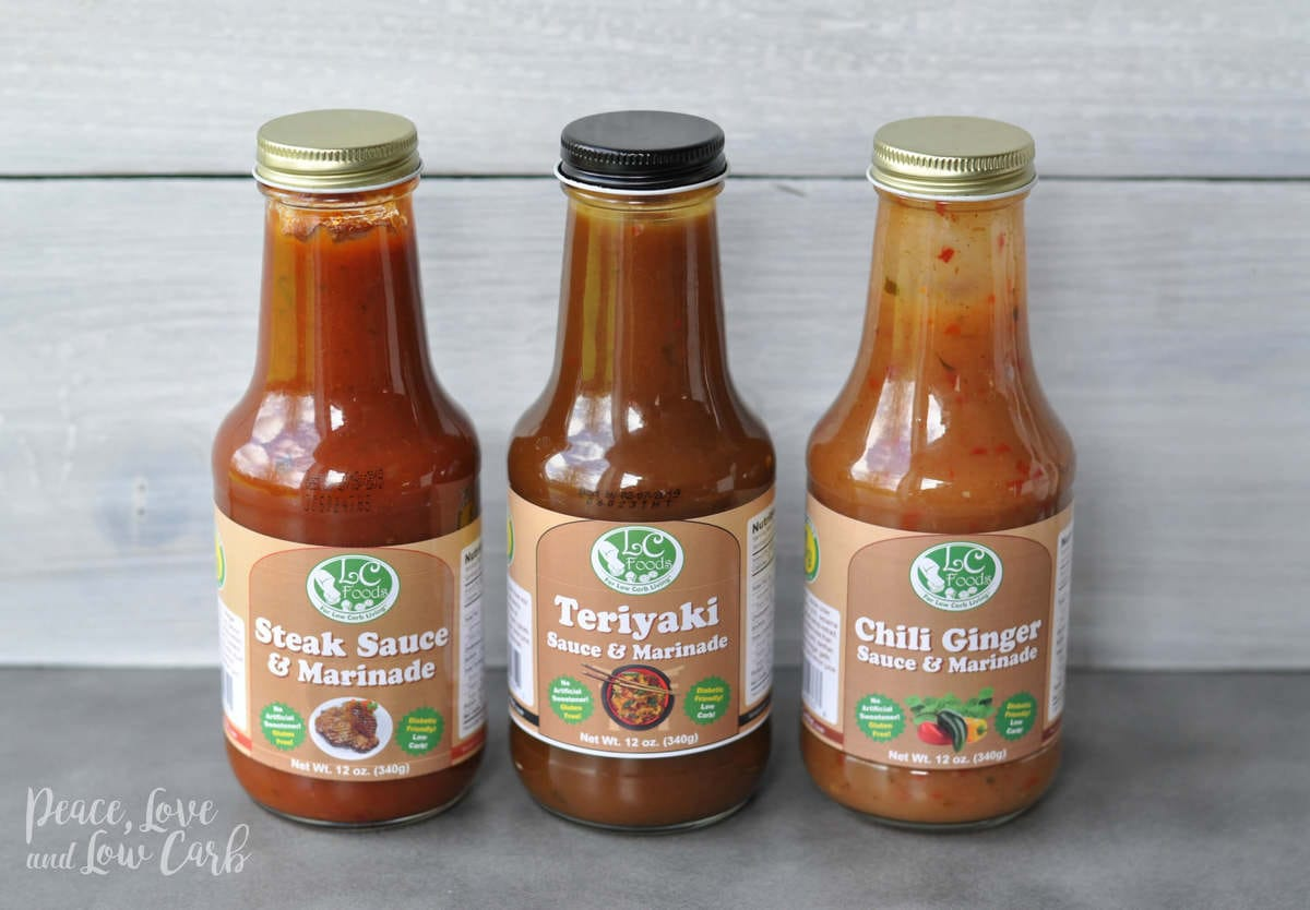 Low Carb Steak Sauce, Teriyaki and Chili Ginger Sauce | Peace Love and Low Carb
