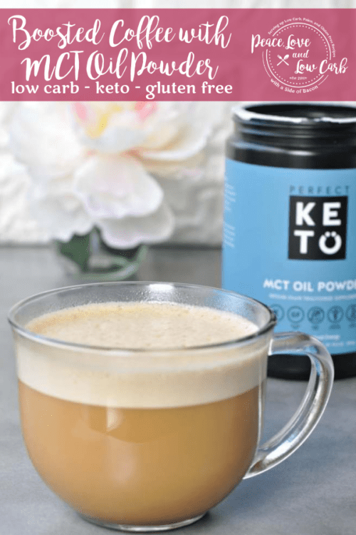 Perfect Keto Boosted Coffee with MCT Oil Powder. Get a boost of natural energy in your morning coffee.