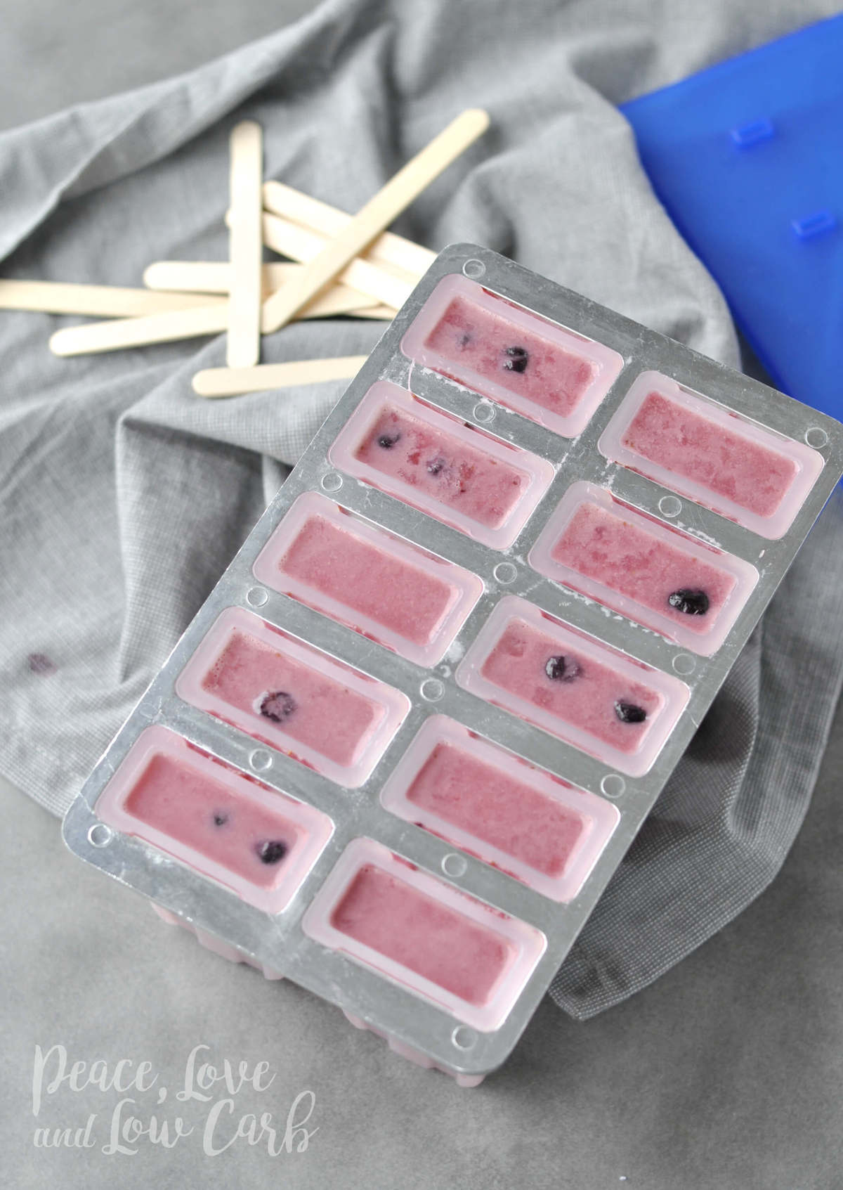 Paleo Mixed Berry Coconut Creamsicles - Low Carb Popsicles | Peace Love and Low Carb
