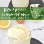 Paleo 2 Minute Avocado Oil Mayo. With just a couple of ingredients and 2 minutes of your time, you have a fool proof mayo recipe that works every time.