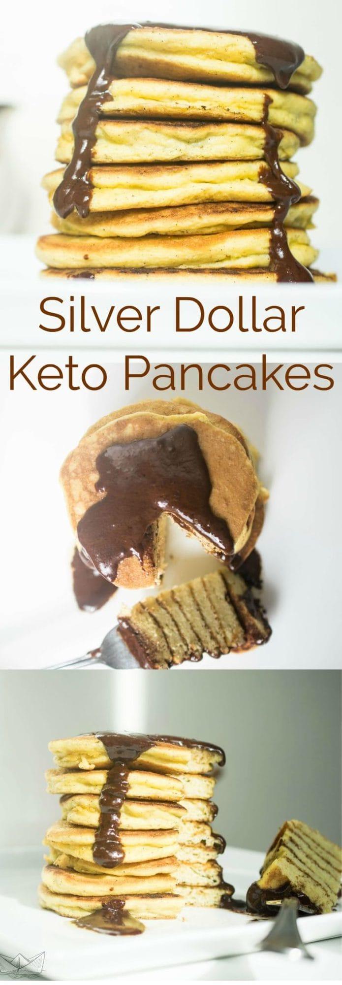 Silver Dollar Keto Pancakes | Peace Love and Low Carb #keto #lowcarb #pancakes #lchf #hflc #recipes