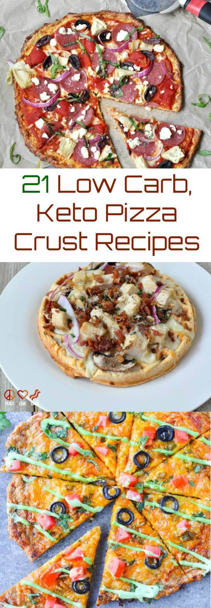 21 Low Carb, Keto Pizza Crust Recipes | Peace Love and Low Carb