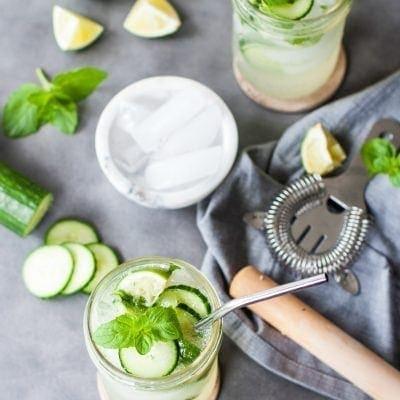 Low Carb Cucumber Mojitos