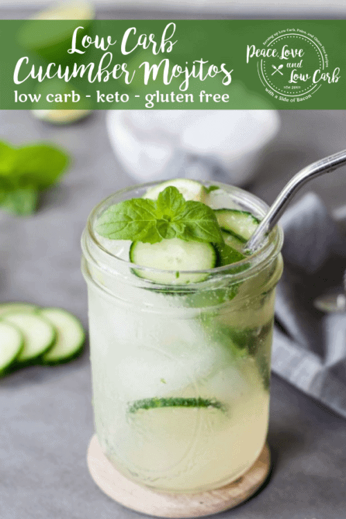 Summer is upon us and it's time for some low carb fun in the sun. You can still have all your favorite cocktails, it just takes a little creativity - Low Carb Cucumber Mojitos
