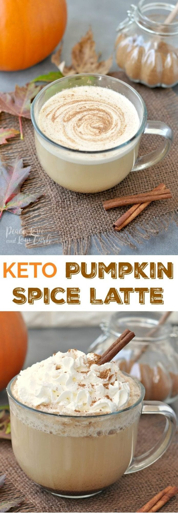 Keto Pumpkin Spice Latte | Peace Love and Low Carb