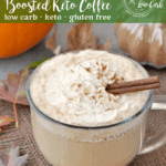 All of your favorite fall flavors in one warm, comforting low carb cup. What happened when bulletproof coffee meets low carb pumpkin spice latte? This!