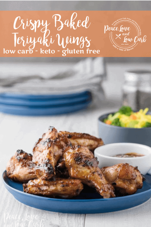 All of the delicious flavors of sugary, fried teriyaki wings, but none of the gluten and carbs. Low Carb Crispy Baked Teriyaki Wings.