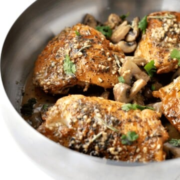 Herbed Chicken and Mushrooms - Peace Love and Low Carb