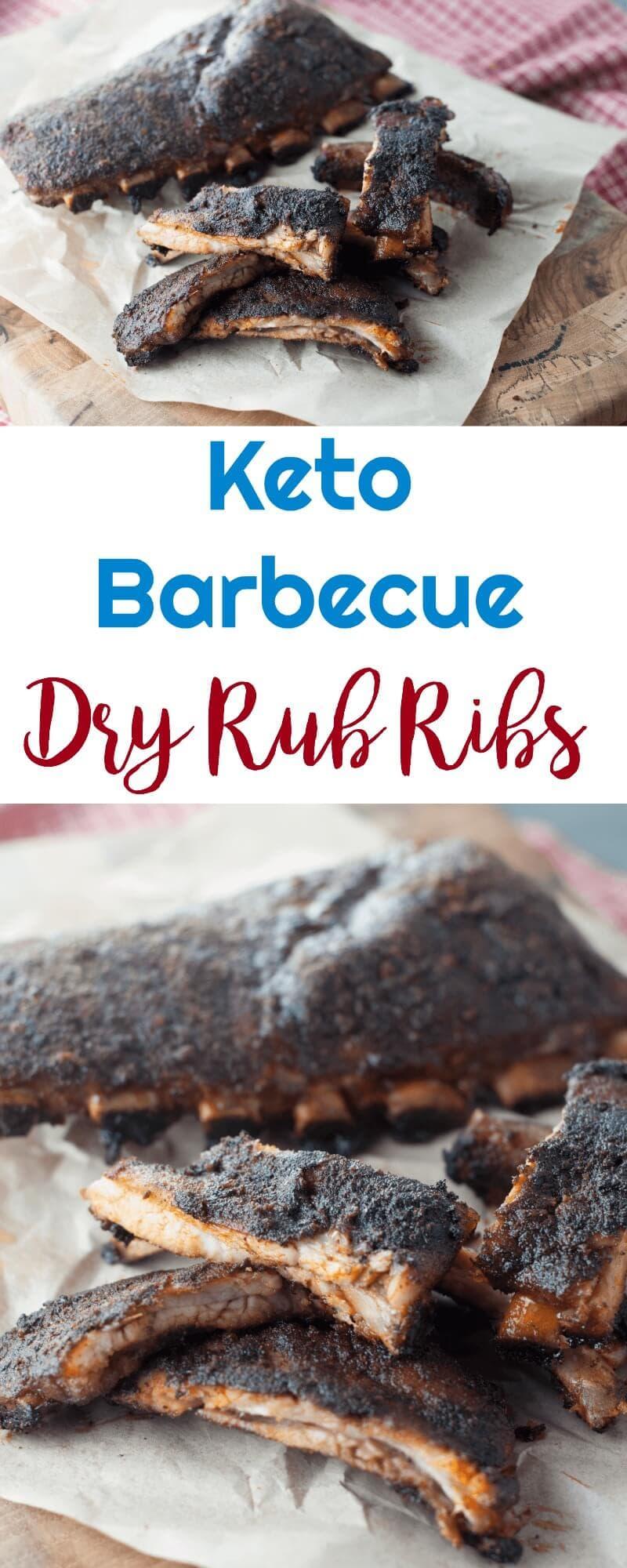 Keto Barbecue Dry Rub Ribs #lowcarb #keto #barbecue #ribs #lowcarbhighfat #ketorecipes #lowcarbrecipes