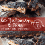 These Keto Barbecue Dry Rub Ribs are tender, juicy, and flavorful and require very little hands on time. Simple season and let the heat do the work.
