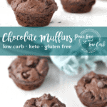 Moist, delicious, and perfectly chewy. These bite sized keto chocolate muffins are sure to curb that nagging sweet tooth.