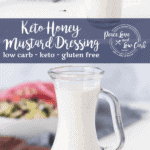 Rich, thick and creamy. This Keto Honey Mustard Dressing recipe tastes just like the real thing, but without all the carbs.