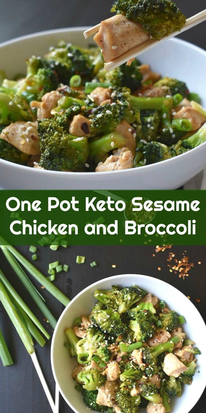 One Pot Keto Sesame Chicken and Broccoli #keto #lowcarb #ketogenic #onepotrecipes