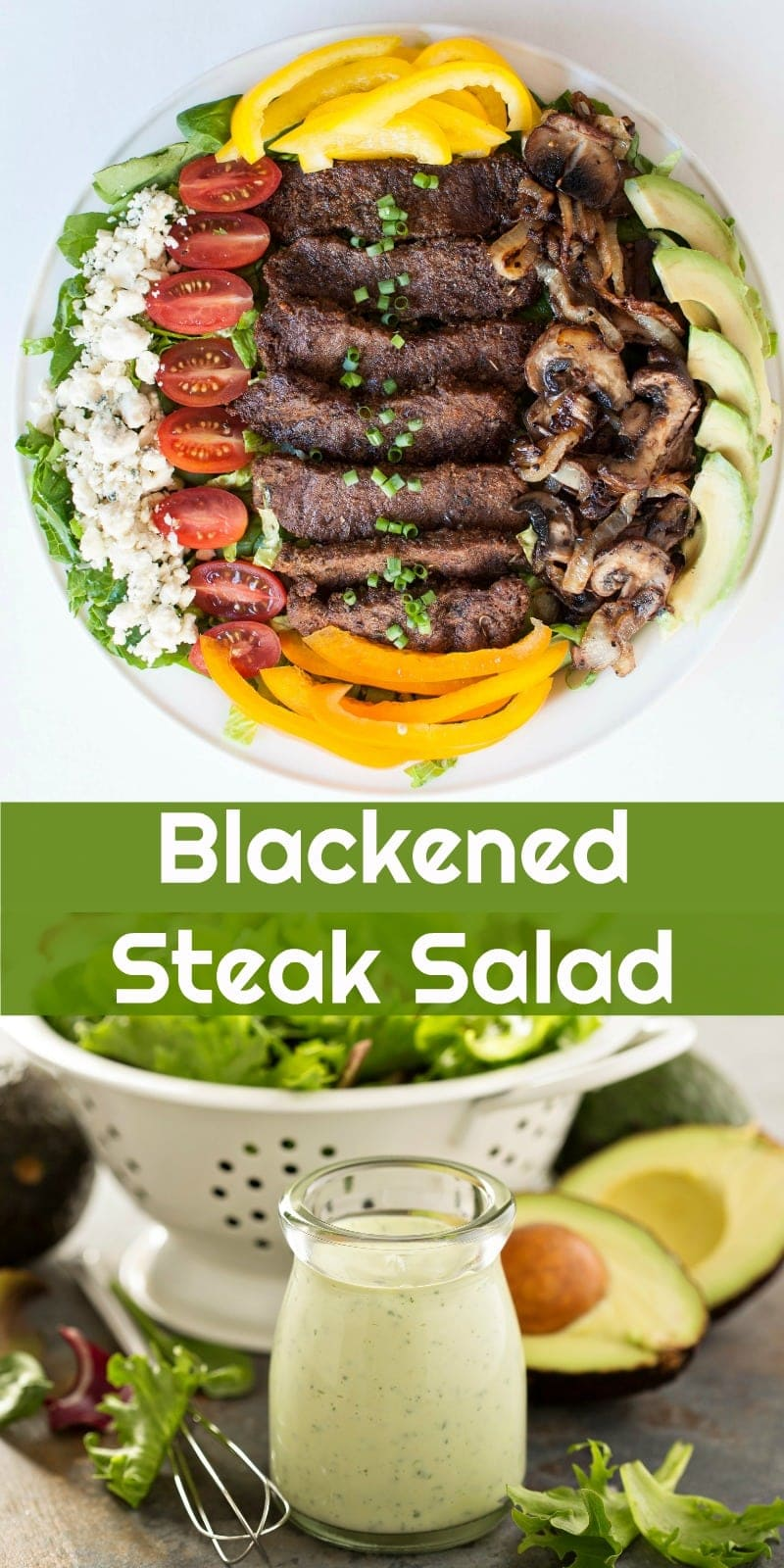 Keto Blackened Steak Salad | Peace Love and Low Carb #keto #lowcarb #ketogenic steaksalad #salad