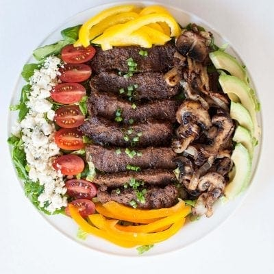 Blackened Chicken Steak Salad | Peace Love and Low Carb