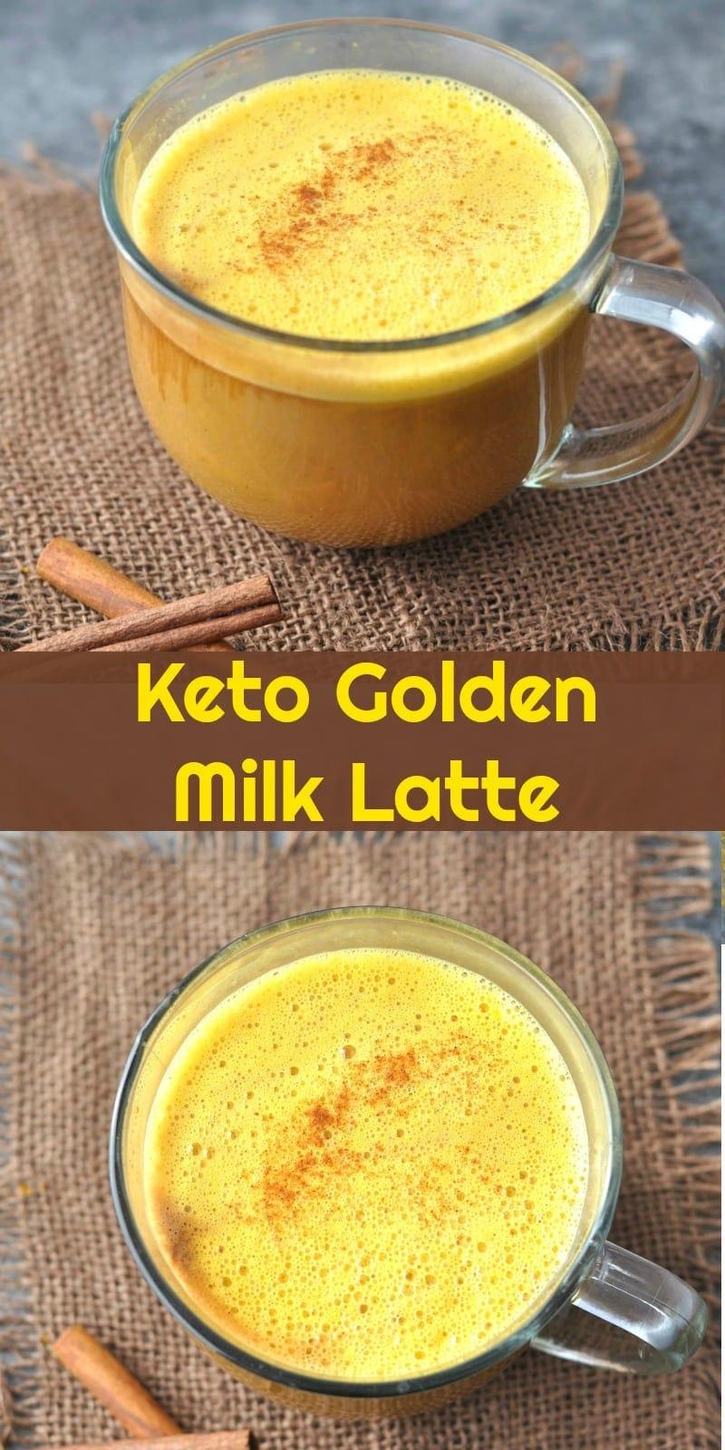 Keto Golden Milk Latte Turmeric Tea | Peace Love and Low Carb