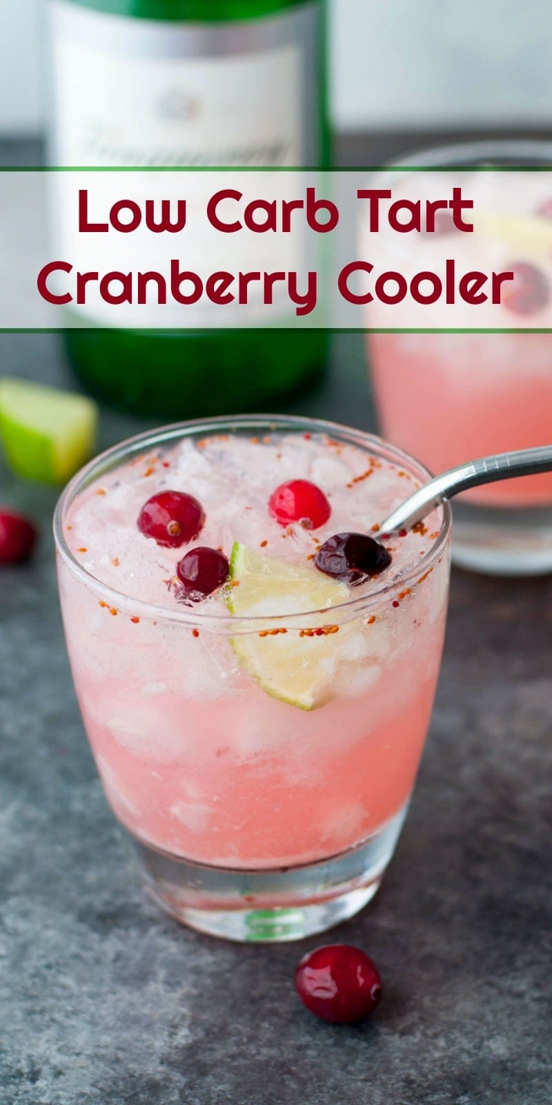Tart Cranberry Cooler | Peace Love and Low Carb