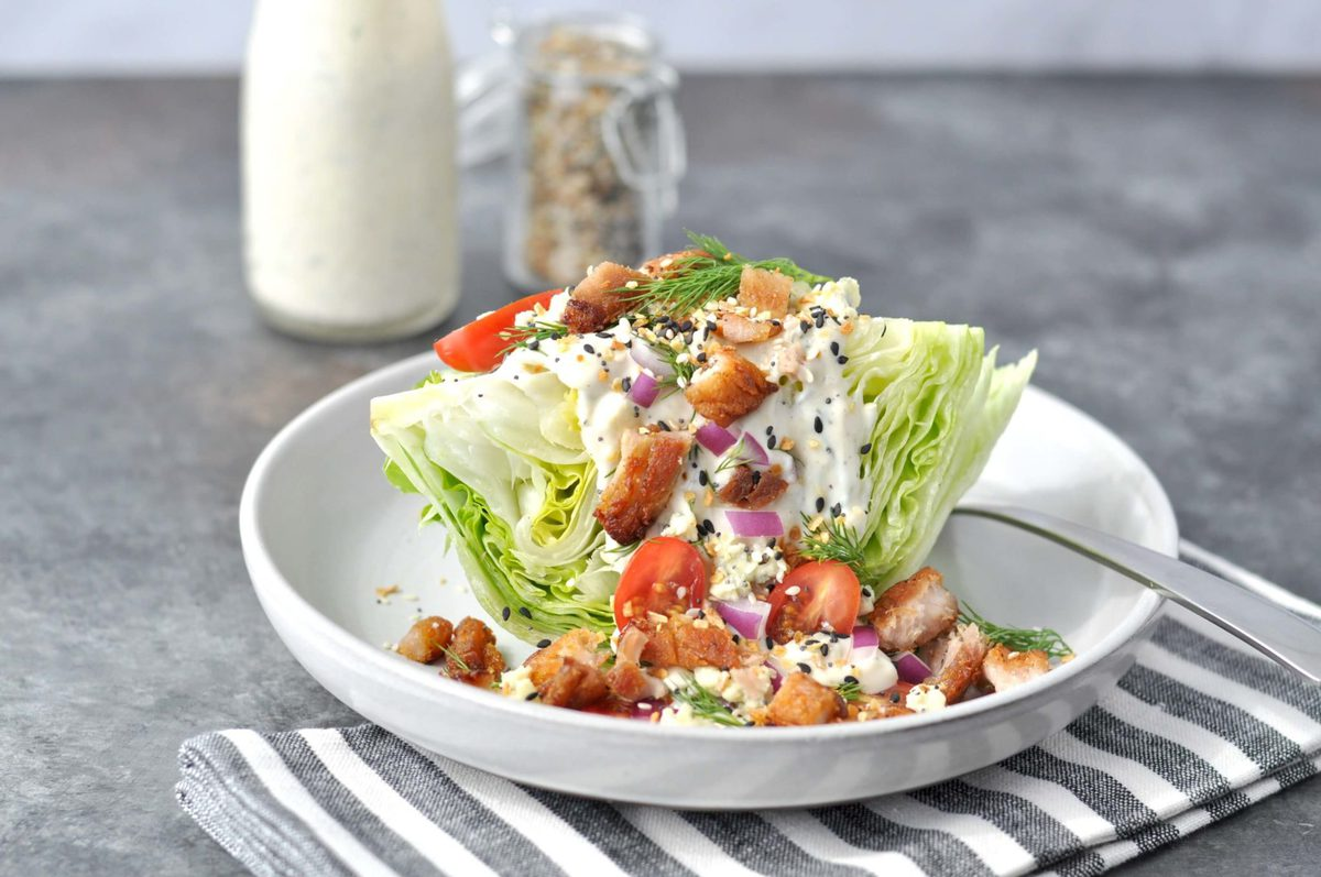 Pork Belly Wedge Salad - Peace Love and Low Carb