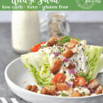 Crunchy, chewy, perfectly salty! Pork belly may just be the perfect keto food. This Low Carb Pork Belly Wedge Salad is hearty enough to be a meal, and satisfying enough to make you crave it time and time again.