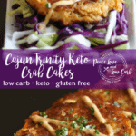 These Cajun Trinity Keto Crab Cakes are a low carb nod to one of my favorite cities in the world – New Orleans!