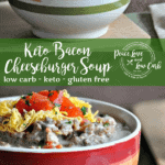 This Keto Bacon Cheeseburger Soup has all the flavors of a cheeseburger, but in soup form. It's even as though you can taste each individual condiment. So warm and comforting.