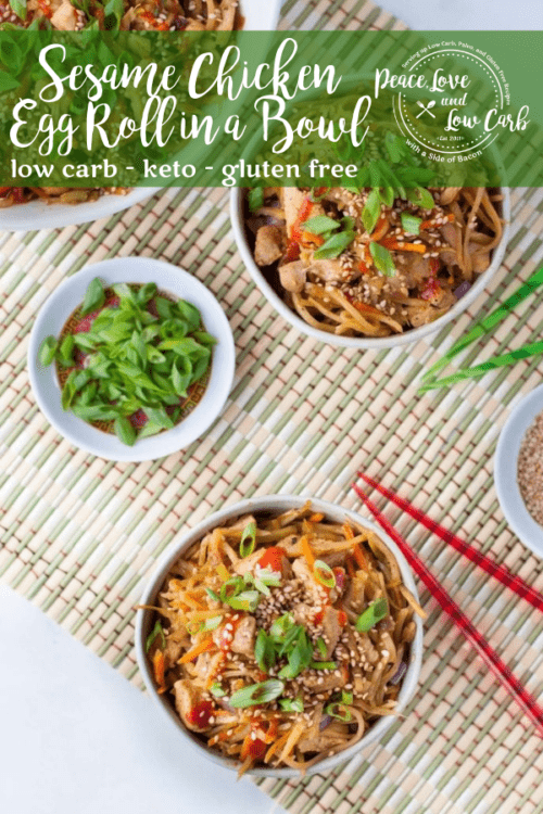 This low carb sesame chicken egg roll in a bowl is a delicious spin on the classic pork version that everyone knows and loves.