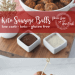 Your favorite holiday appetizer just got a keto makeover. These Keto Sausage Balls are the perfect quick and easy low carb appetizer for all occasions.