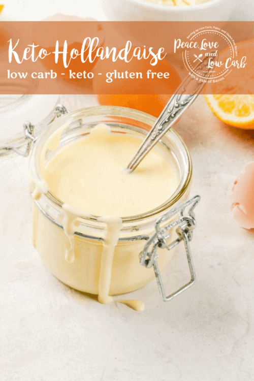 Keto hollandaise is my all-time favorite sauce. It made from scratch, it is naturally keto friendly and has almost zero carbs.